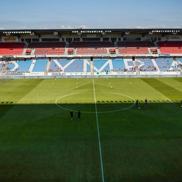 Helsingborgs arena Olympia fotad inifrån.