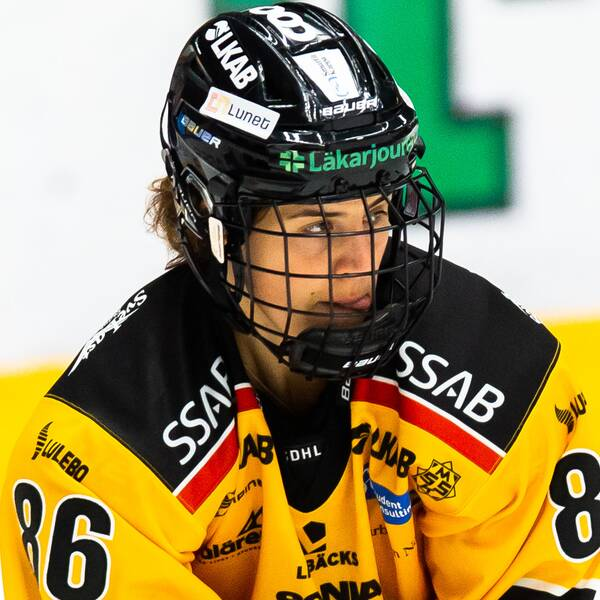 Luleås Michela Cava under ishockeymatchen i SDHL mellan HV71 och Luleå den 12 september 2020 i Jönköping.