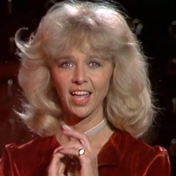 """Anita Lindblom i """"Party hos Parnevik"""" i januari 1979."""