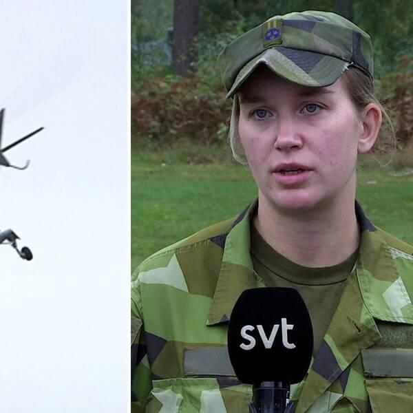 kompanichefen på F17 i Kallinge, Tina Dahlström
