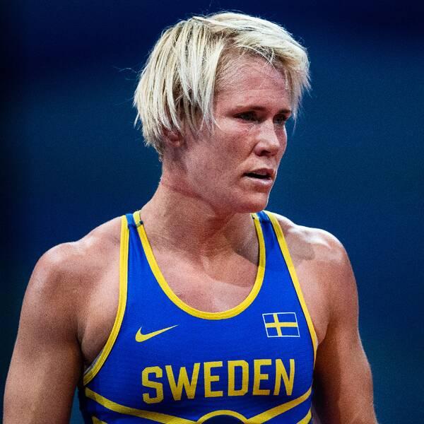 Jenny Fransson och hennes ombud Mats Larsson.