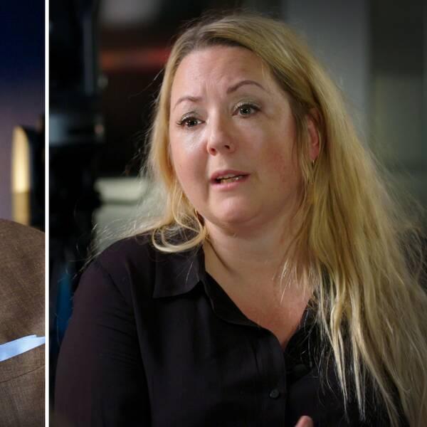 Foto på före detta nyhetsankaret Claes Elfsberg och opinionsbildaren Rebecca Weidmo Uvell