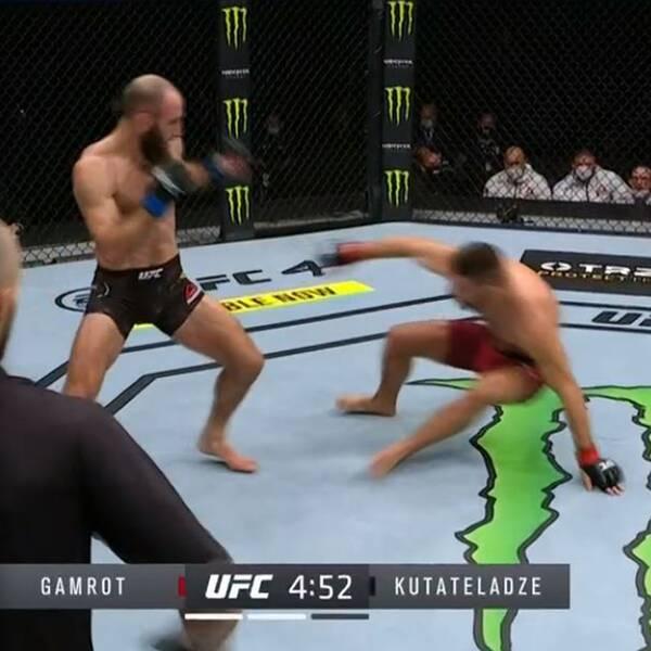 Svenske Guram Kutateladze vann i UFC-debuten i natt.