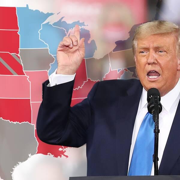 Den 3 november ställs president Donald Trump mot demokraternas utmanare Joe Biden.