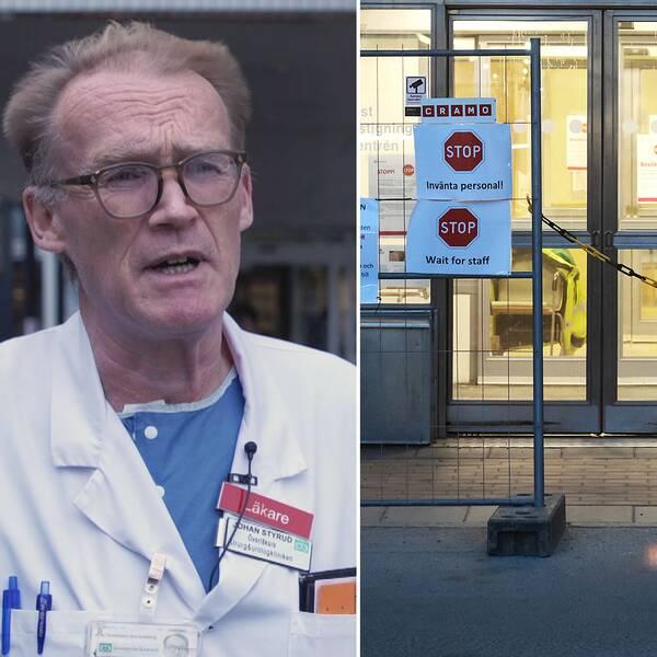 """Överläkare Johan Styrud: """"Det håller på att eskalera precis som i övriga Europa"""""""