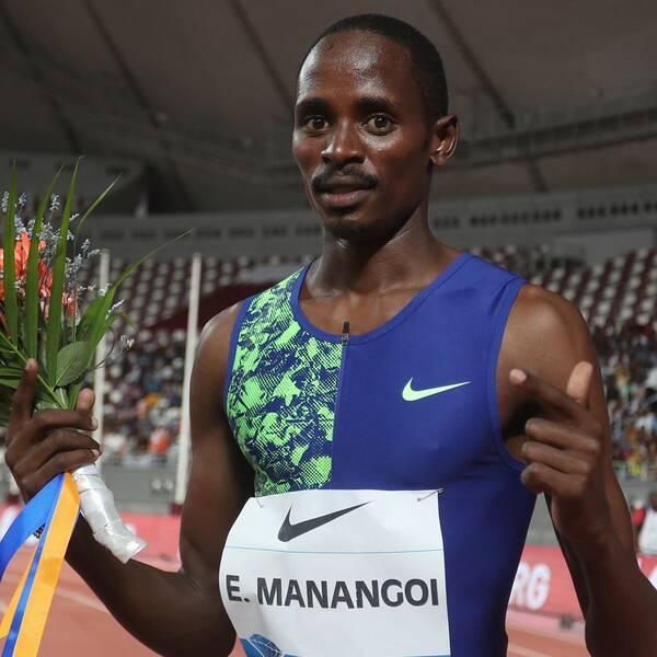 Löparstjärnan Elijah Manangoi stängs av från allt tävlande i två år.