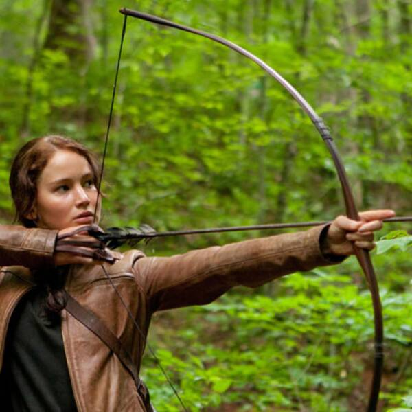 "Jennifer Lawrence spelar huvudrollen Katniss Everdeen i ""Hunger Games""."