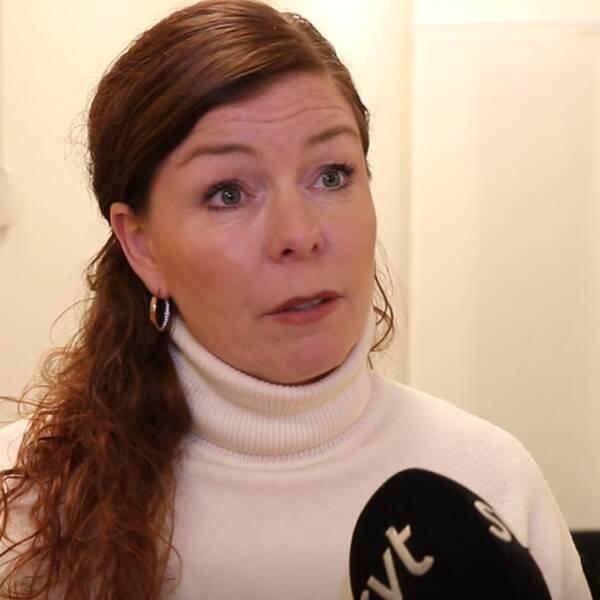 AnnaKarin Bye, medicinskt ansvarig sjuksköterska i Enköping, och äldreboendet Stadsgården.