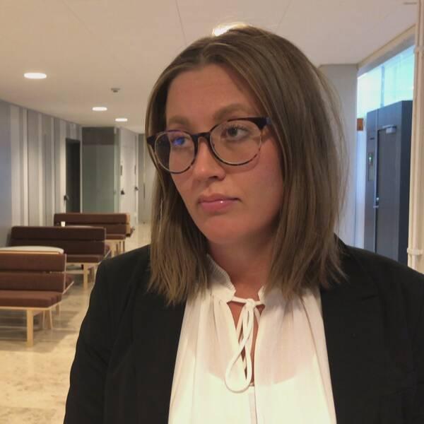 Advokat Frida Larsson.