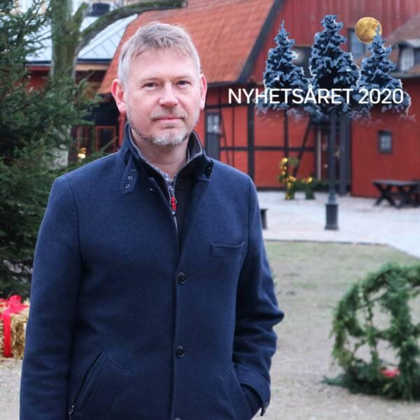 Marcus Sandekjer, museichef på Blekinge museum, julkort