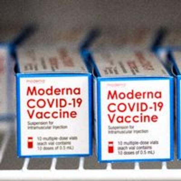 Modernas vaccin mot covid-19.