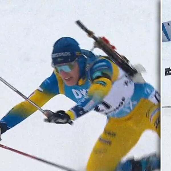 Sebastian Samuelsson vurpade i herrarnas sprint.