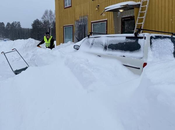 Snödjupsrekord i Aspeå.