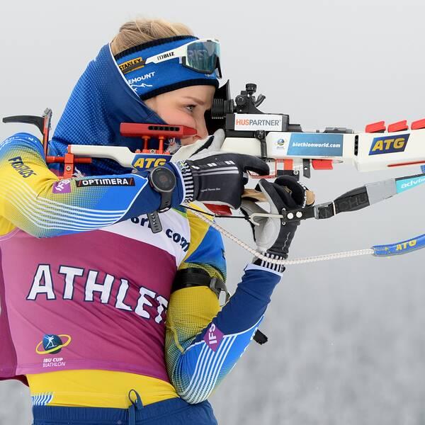 Stina Nilsson gör sin debut i IBU-cupen under torsdagen.