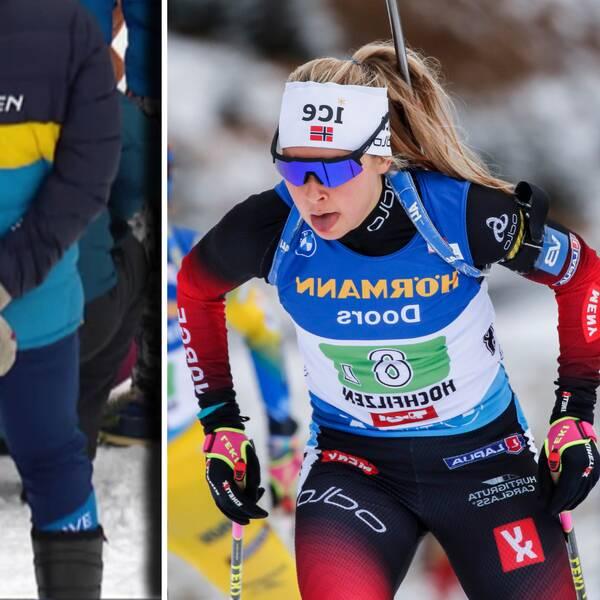 Ingrid Landmark Tandrevold kör lördagens stafett trots hjärtflimret.