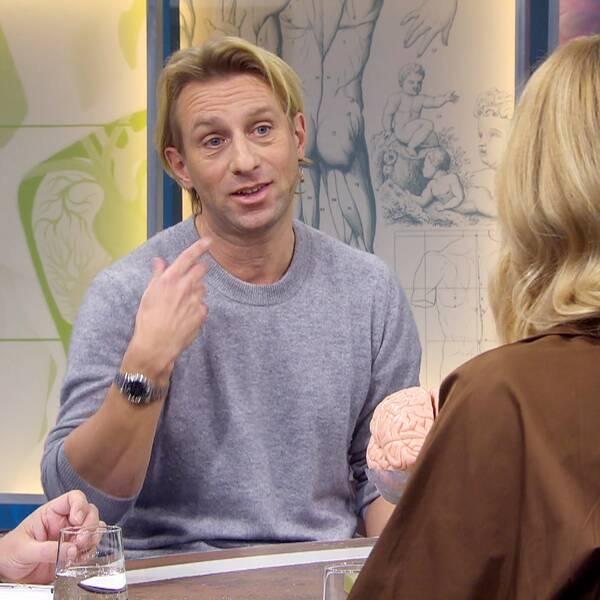 Läkaren och psykiatrikern Anders Hansen i Fråga doktorn hälsa.