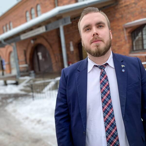 Mattias Eriksson Falk (SD), oppositionsråd i Gävle.