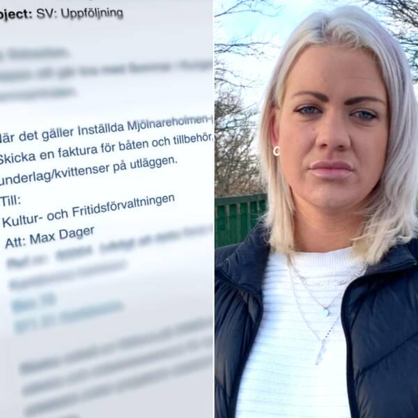 Sophia Ahlin, Elina Gustafsson, mejlkonversation
