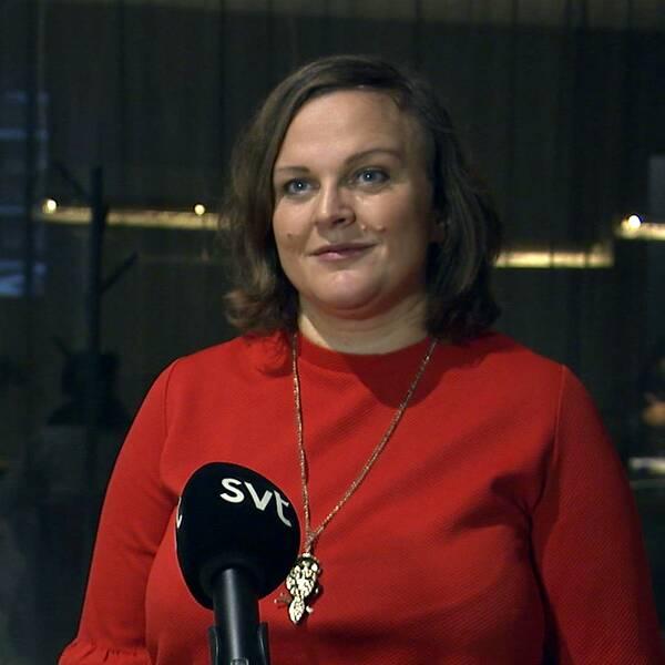 Eva Cooper, regionchef för Företagarna, på sin arbetsplats.