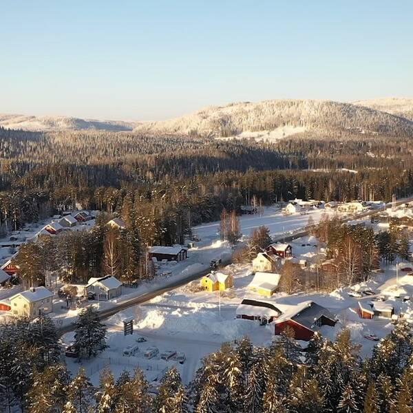 Flygbild över Viksjö