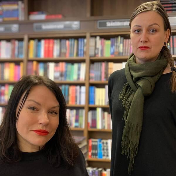 Emma Harrysson Karlsson och Lotta Daniels tog över nedläggningshotade Vimmerby Bokhandel mitt under brinnande pandemi. Nu startar deras första bokrea.