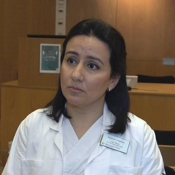Mehreen Zaigham, läkare på Skånes universitetssjukhus.