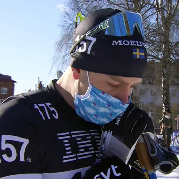 Anton Karlsson kom tvåa i Vasaloppet 2021.
