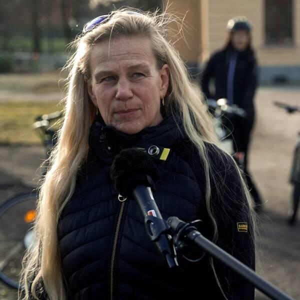 Elisabeth Jonsson om sina erfarenheter av vintercykling.