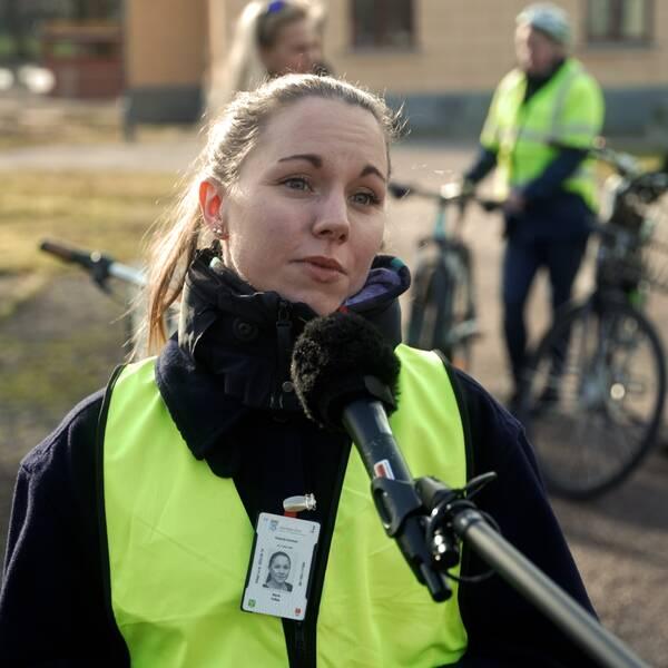 Marie Pellas som jobbar som planerare inom hållbar mobilitet i Västerås stad.