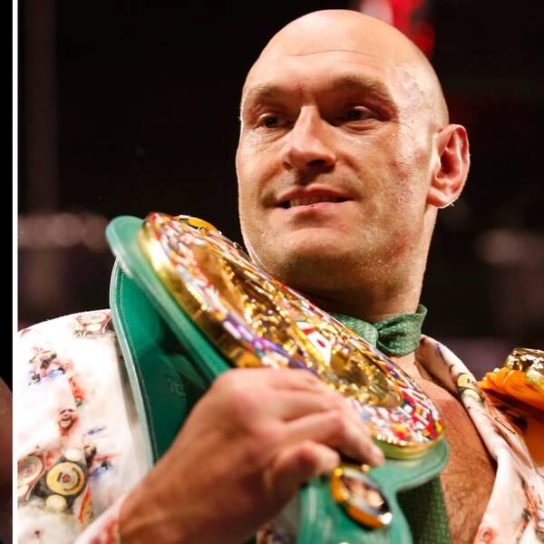 Anthony Joshua, till vänster, och Tyson Fury kommer att mötas i ett supermöte.