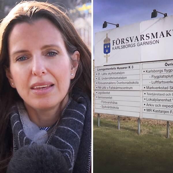 Starta klippet för att se SVT:s reporter Frida Björk på plats vid K3 i Karlsborg – efter att Försvarsmaktens egna utredningar blivit klara, regementets chef Ola Barvér (t.h) vill inte ställa upp på en intervju.