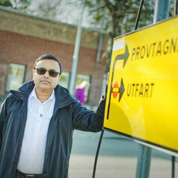 Shah Jalal, smittskyddsläkare i Region Gävleborg.