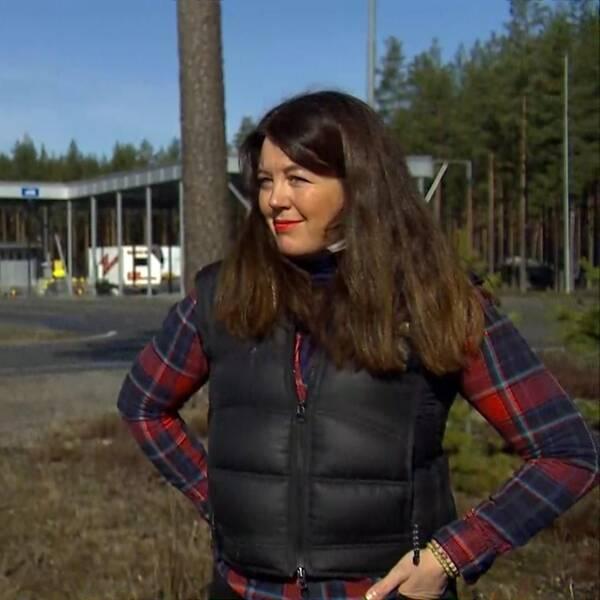 Helena Henriksson är vd för Torsby camping och bor precis vid gränsen.