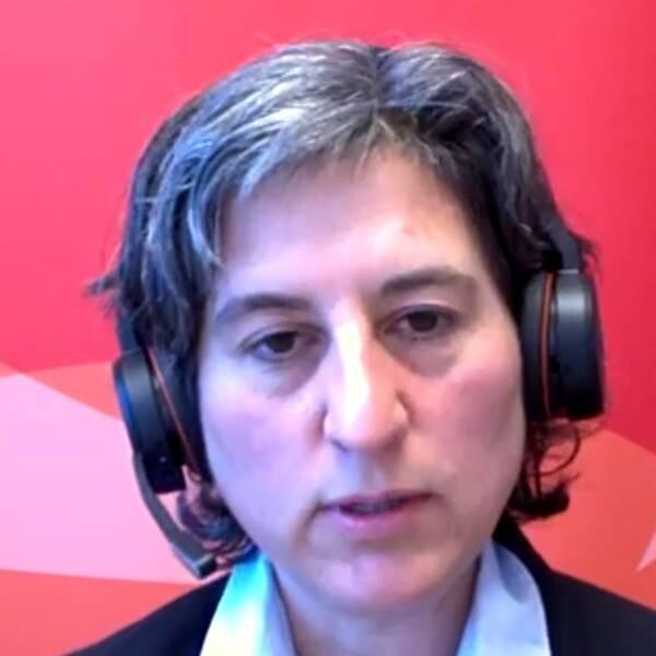 Lisa Labbé Sandelin, smittskyddsläkare i Region Kalmar län inför skärpta rekommendationer gällande munskydd i kollektivtrafiken – alla tider på dygnet.