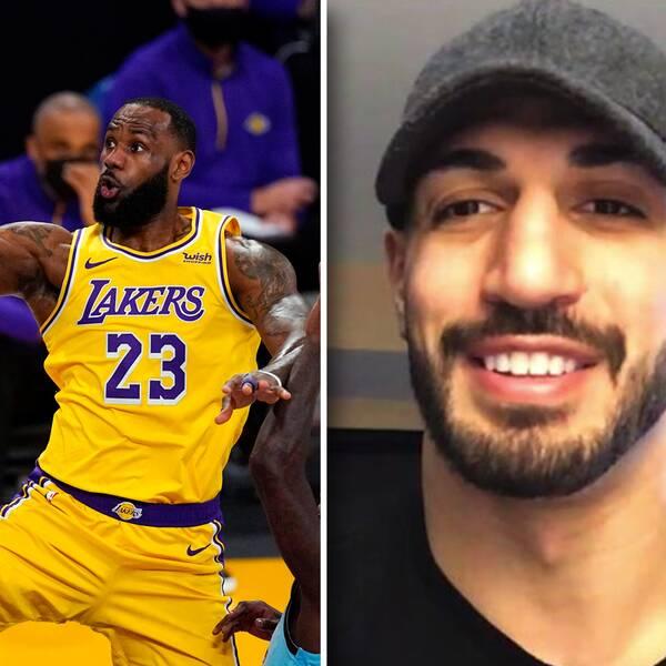 Enes Kanter (höger) tycker att Lakers-stjärnan LeBron James är den bäste spelaren han någonsin har mött.