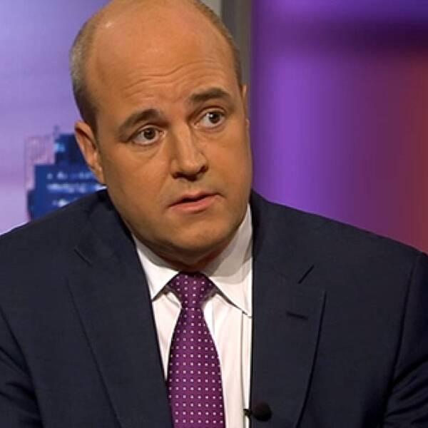 Fredrik Reinfeldt i Agenda. Foto: SVT
