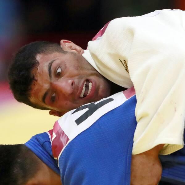 Den iranske judokan Saeid Mollaei stoppades av det egna nationsförbundet från att ställa upp mot en israelisk motståndare. Nu stängs Irans judoförbund av i fyra år. Arkivbild.