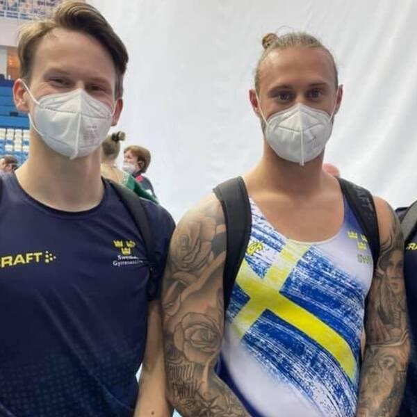De svenska herrarna tog brons i lagtävlingen i DMT.