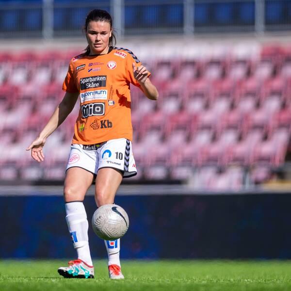 Anna Welin blev matchhjälte med sitt 1-0 mål.