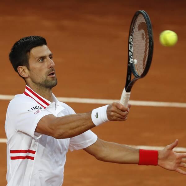 Novak Djokovic hamnade i en het diskussion med domaren.