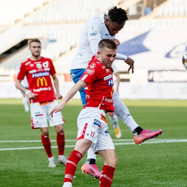 IFK Norrköpings Samuel Adegbenro gör 1-0 mot Degerfors.