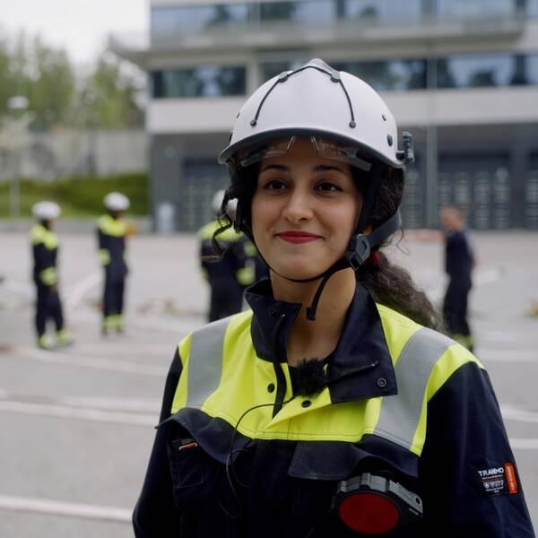 Niloofar Abbaskhan är en av de som utbildar sig till frivillig i beredskapsvärnet i Nyköping.Niloofar Abbaskhan är en av de som utbildar sig till frivillig i beredskapsvärnet i Nyköping.