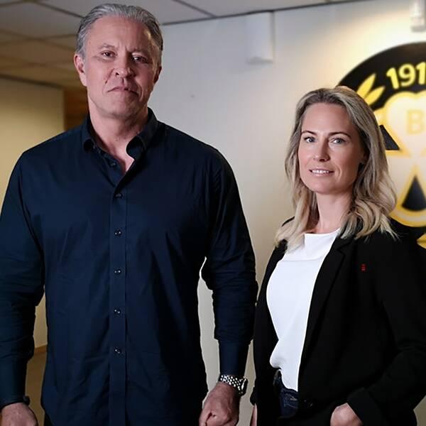 Gunnar Ekman och Jennie Brobeck ska ta sig an klubbdirektörsrollen i Brynäs tills en ny klubbdirektör har rekryterats.