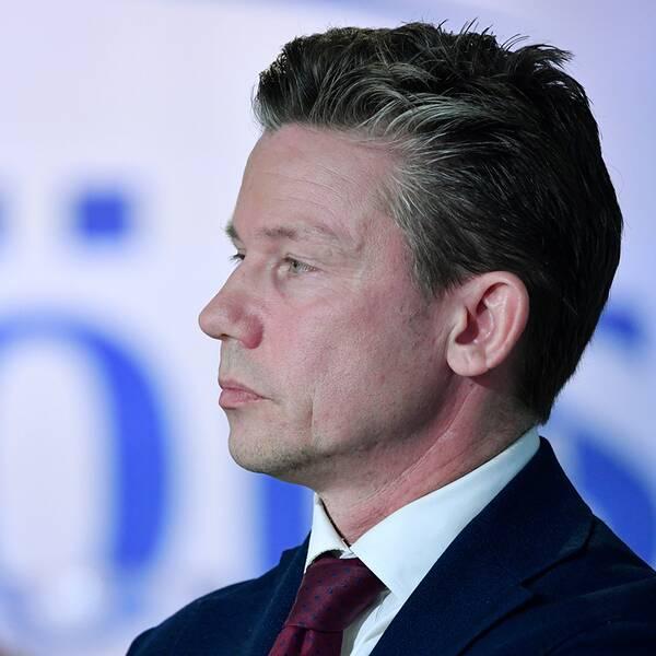 Försvarsminister Peter Hultqvist (S), Moderaternas försvarspolitiske talesperson Pål Jonson.