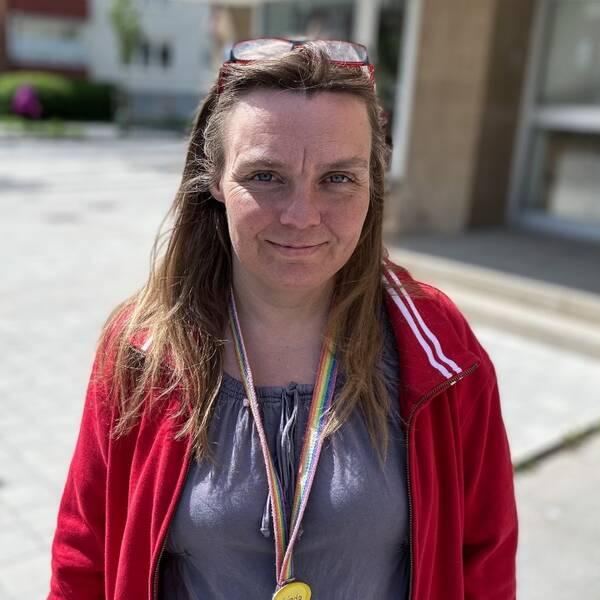 Närbild på Linda Kvarnström
