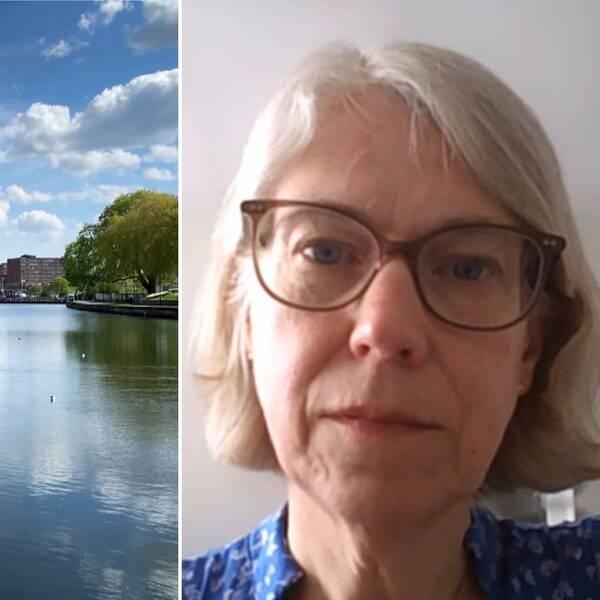 Maren i Södertälje och Maria Rotzén Östlund, smittskyddsläkare.