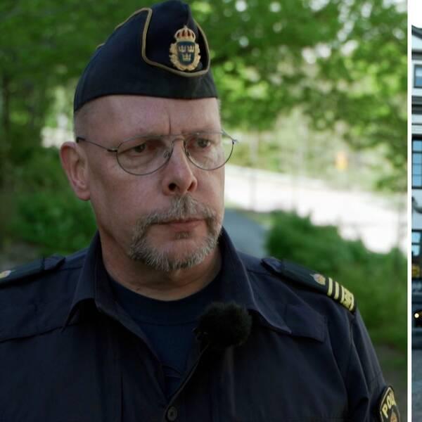Tommy Vestergren, kriminaltekniker i polisregion Stockholm/ skylt vid Högsta domstolen.