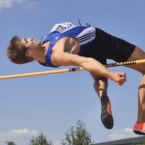 Fabian Delryd klarade 2,30 – tre centimeter från OS-kvalgränsen.