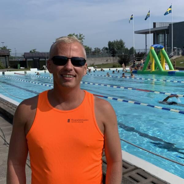 Andreas Lutmark, teamleader på Djupadalsbadet.