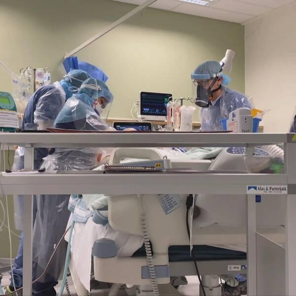 IVA-avdelning för covid patienter på Östersunds sjukhus